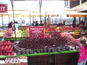 Mmmmmm...Chocolate and Strawberries at the Market